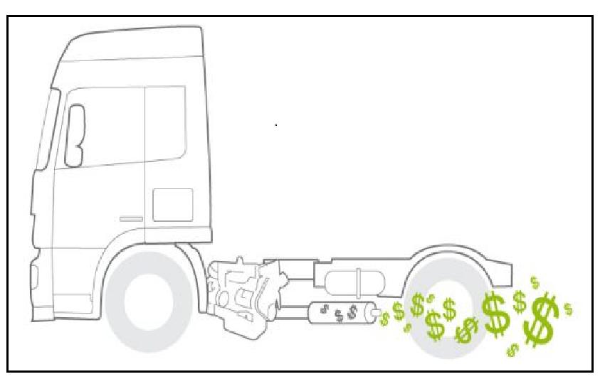Exoès produit de l'énergie à partir du pot d'échappement des camions