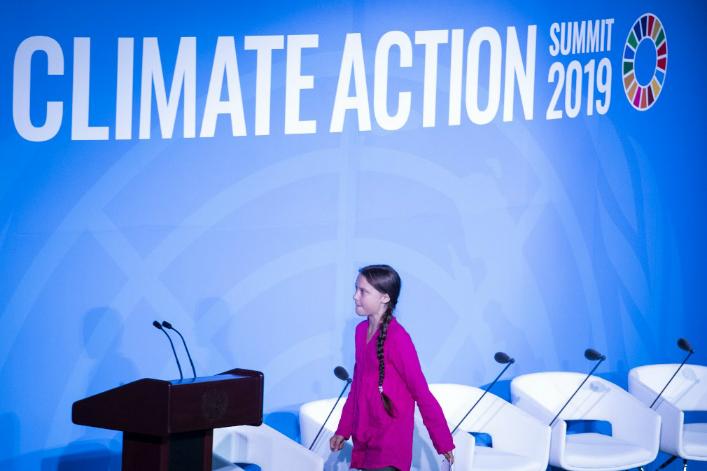 Greta Thunberg sommet climat New York JohannesEisele AFP