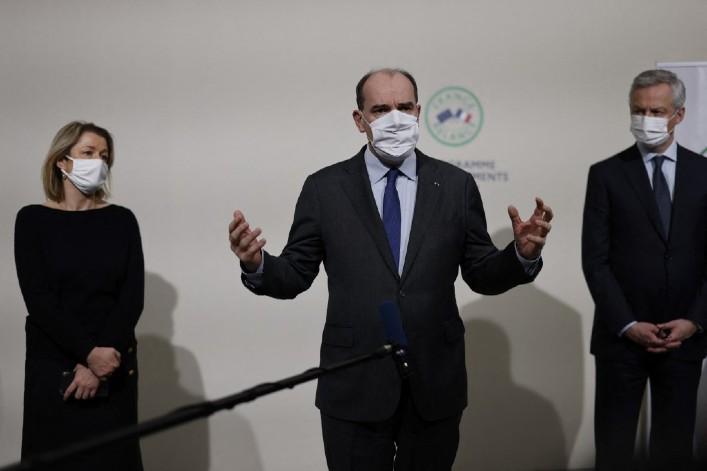 Ministres Pompili Castex Le maire Thomas COEX POOL AFP