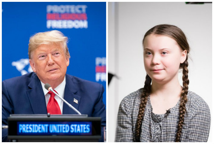 Trump Thunberg Davos 2020 WhiteHouse WEF
