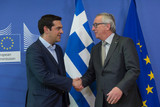 Alexis Tsipras Jean Claude Juncker Commission Europeenne