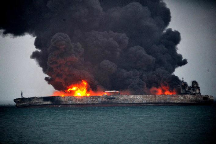 Collision entre un pétrolier iranien et un vraquier chinois, 32 disparus