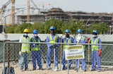 Qatar travailleurs migrants sri lanka esclavage moderne Stade khalifa Doha andreas gebert DPA Picture alliance AFP