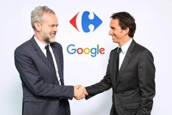 Carrefour google GAFA alimentaire